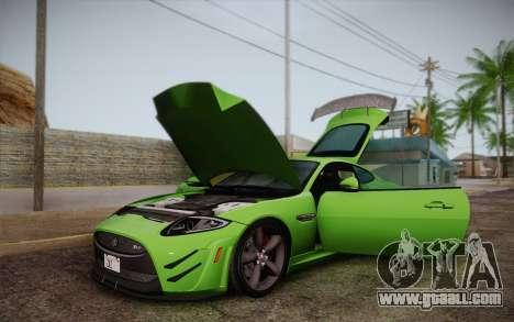 Jaguar XKR-S GT 2013 for GTA San Andreas inner view