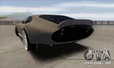 Shelby Cobra Daytona for GTA San Andreas left view