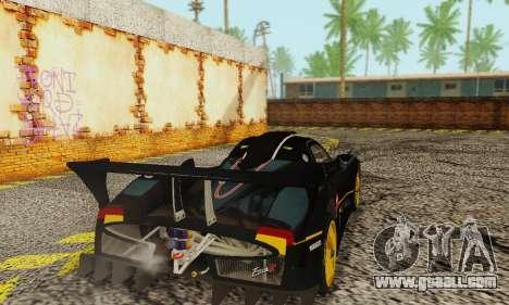 Pagani Zonda Type R Black for GTA San Andreas back left view
