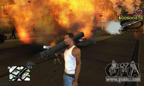 C-HUD New Liberia for GTA San Andreas forth screenshot