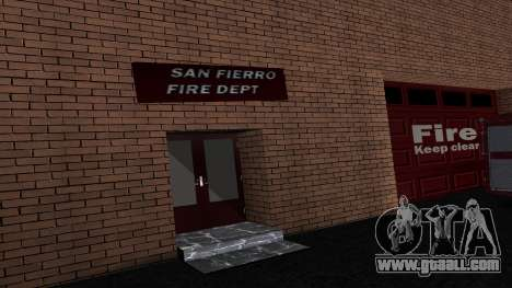Updated San Fierro Fire Dept for GTA San Andreas second screenshot