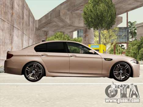 BMW M5 F10 2012 for GTA San Andreas inner view