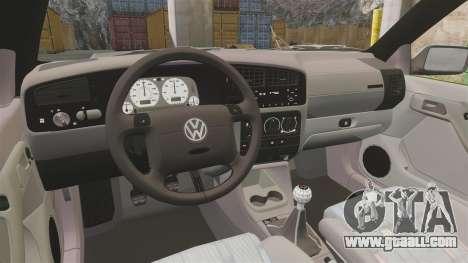 Volkswagen Golf MK3 Harlequin for GTA 4 back view