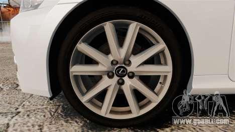 Lexus GS 300h for GTA 4 back view