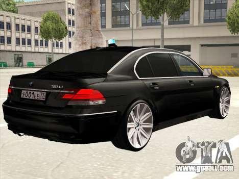 BMW 760Li for GTA San Andreas interior