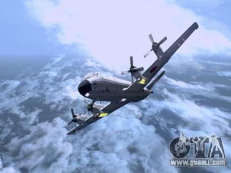 Lockheed P-3 Orion FAJ for GTA San Andreas left view