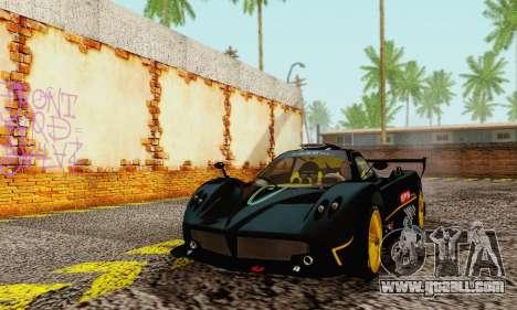 Pagani Zonda Type R Black for GTA San Andreas
