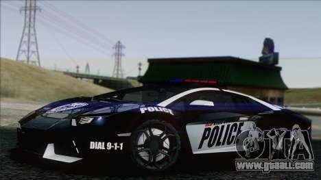 Lamborghini Aventador LP 700-4 Police for GTA San Andreas