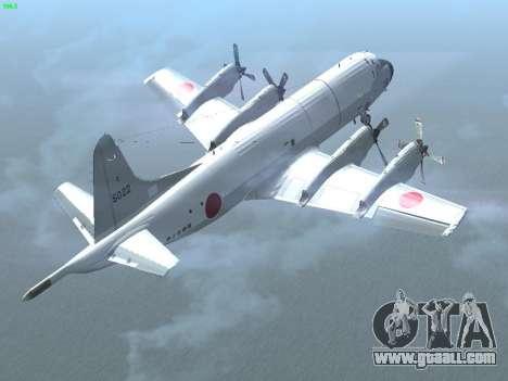 Lockheed P-3 Orion FAJ for GTA San Andreas back view