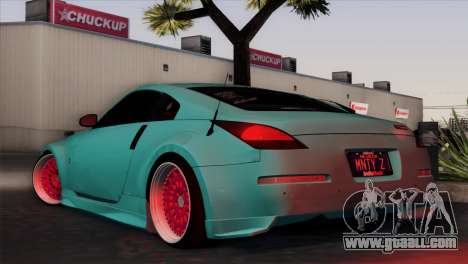 Nissan 350Z Minty Fresh for GTA San Andreas back left view