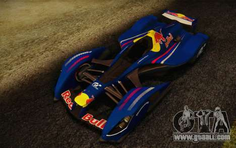 GT Red Bull X10 Sebastian Vettel for GTA San Andreas left view