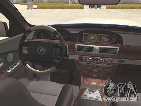 BMW 760Li for GTA San Andreas side view
