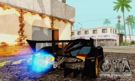 Pagani Zonda Type R Black for GTA San Andreas right view