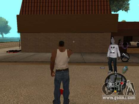 C-HUD Ballas for GTA San Andreas second screenshot