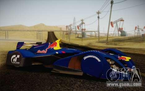 GT Red Bull X10 Sebastian Vettel for GTA San Andreas right view
