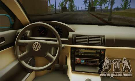 Volkswagen Passat for GTA San Andreas back view