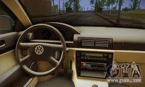 Volkswagen Passat for GTA San Andreas back view