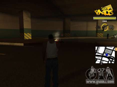 Vagos Gang HUD for GTA San Andreas third screenshot