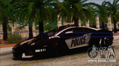 Lamborghini Aventador LP 700-4 Police for GTA San Andreas side view