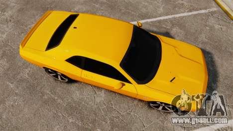 Dodge Challenger SRT8 2012 for GTA 4 right view