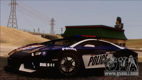 Lamborghini Aventador LP 700-4 Police for GTA San Andreas bottom view