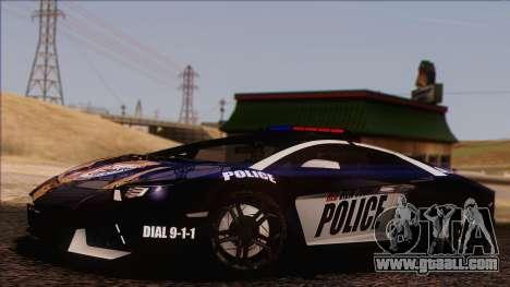 Lamborghini Aventador LP 700-4 Police for GTA San Andreas bottom view