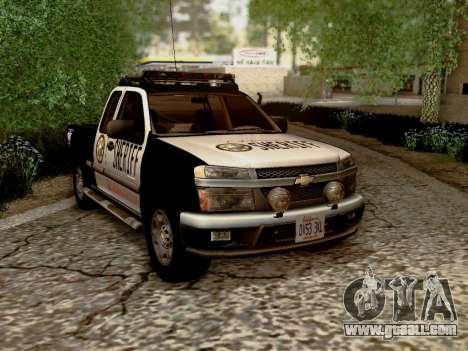 Chevrolet Colorado Sheriff for GTA San Andreas back view