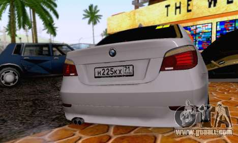 BMW 530xd for GTA San Andreas inner view