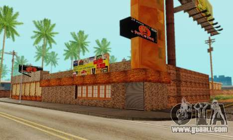The new texture pizzerias and amenities at Delud for GTA San Andreas seventh screenshot
