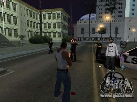 C-HUD Ballas for GTA San Andreas fifth screenshot