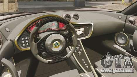 Lotus Evora GTE Mansory for GTA 4 inner view
