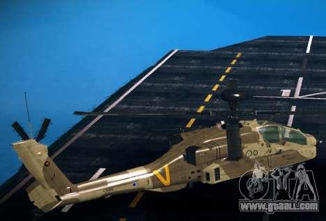 AH-64 Longbow Apache for GTA San Andreas left view