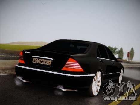Mercedes-Benz S600 for GTA San Andreas back left view