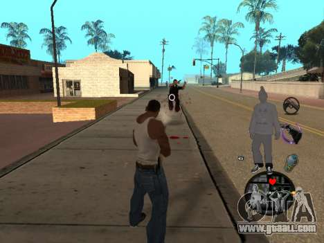 C-HUD Ballas for GTA San Andreas forth screenshot