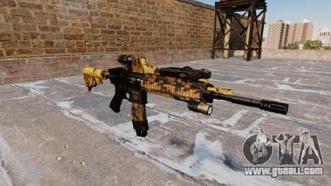 Automatic rifle Colt M4A1 Fall Camos for GTA 4