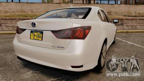 Lexus GS 300h for GTA 4 back left view