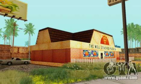 The new texture pizzerias and amenities at Delud for GTA San Andreas eighth screenshot