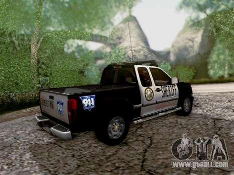 Chevrolet Colorado Sheriff for GTA San Andreas upper view