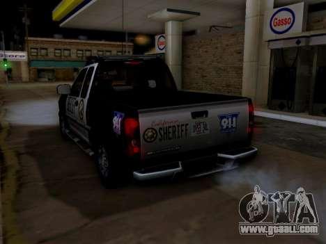 Chevrolet Colorado Sheriff for GTA San Andreas wheels