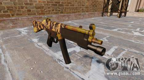 The submachine gun HK MP5 Fall Camos for GTA 4