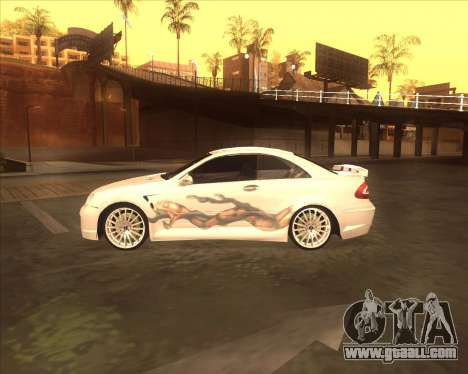 Mercedes CLK 500 из NFS Most Wanted for GTA San Andreas back left view