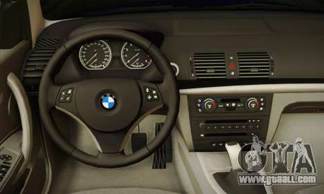 BMW 120i SE Carabinieri for GTA San Andreas back view