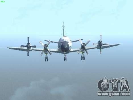 Lockheed P-3 Orion FAJ for GTA San Andreas inner view