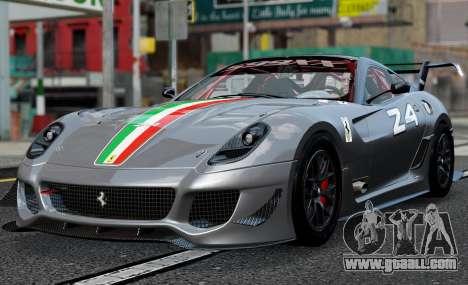 Ferrari 599xx Evoluzione for GTA 4 back left view
