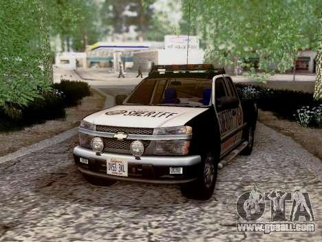Chevrolet Colorado Sheriff for GTA San Andreas bottom view