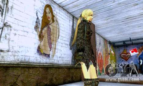 The blonde girl in black clothes for GTA San Andreas second screenshot