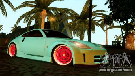 Nissan 350Z Minty Fresh for GTA San Andreas back view