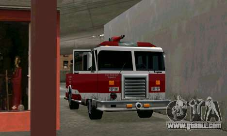 Realistic fire station in Los Santos for GTA San Andreas