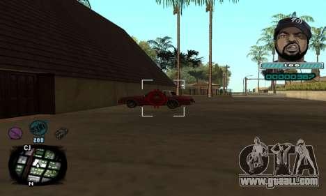 C-HUD Ice Cube for GTA San Andreas third screenshot