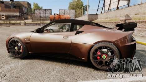 Lotus Evora GTE Mansory for GTA 4 left view